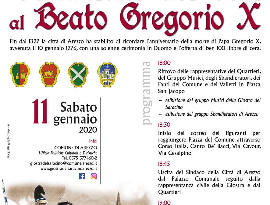 Cerimonia offerta dei Ceri al Beato Gregorio X