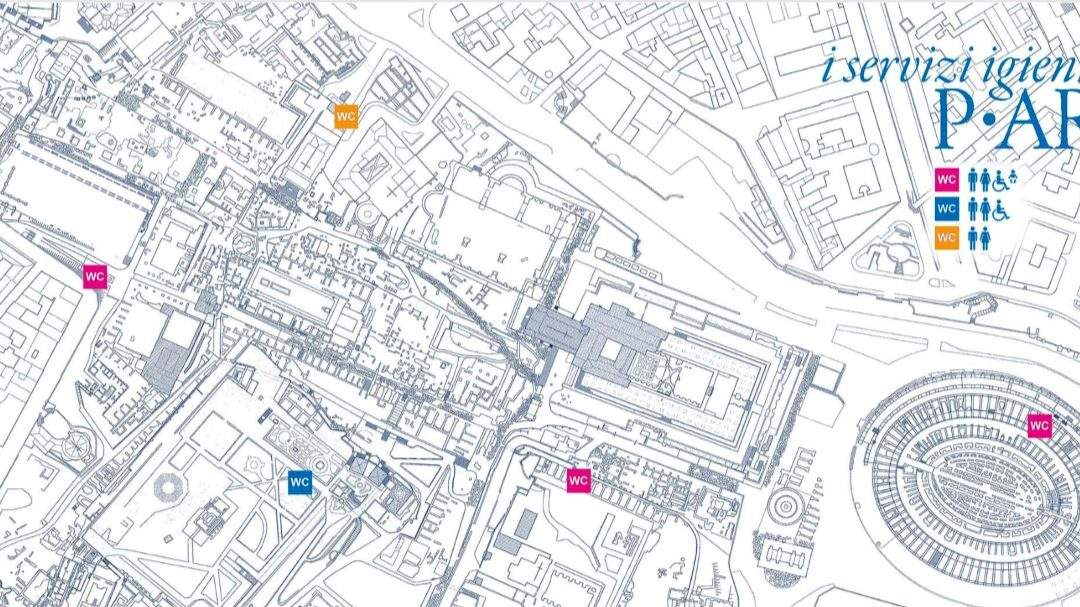 Cartina Parco archeologico del Colosseo