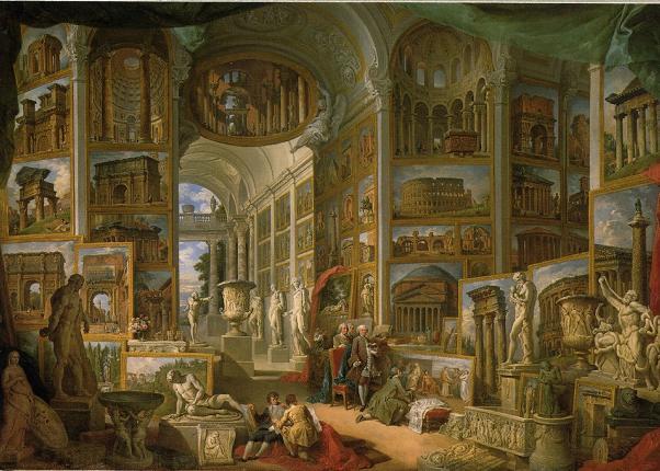 Giovanni Paolo Pannini, Roma nel 700