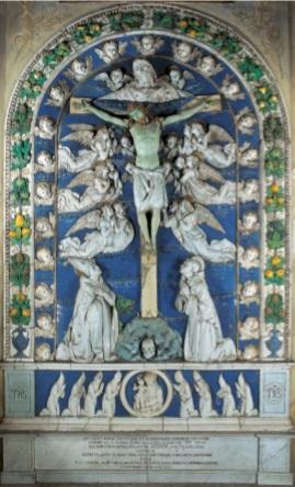 Crocifisso invetriato Andrea della Robbia